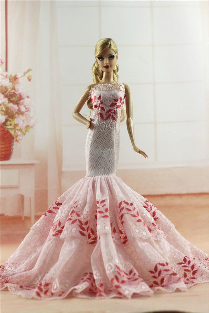 Royalty Mermaid Dress Party Dress//Wedding Clothes//Gown For 11.5in.Doll H06