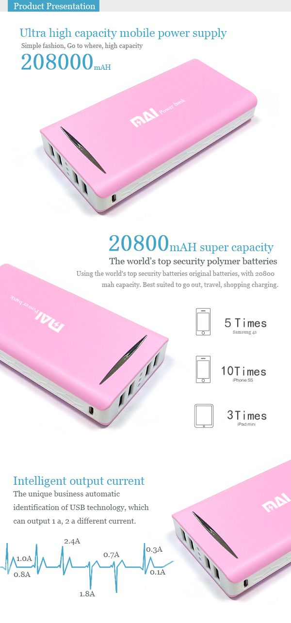 MAI-702 20800mAH Large capacity of intelligent mobile power supply for iPhone - See more at: http://www.maidipower.com/mai-801-20800mah-large-capacity-of-intelligent-mobile-power-supply-for-iphone.html#sthash.r61ShNry.dpuf