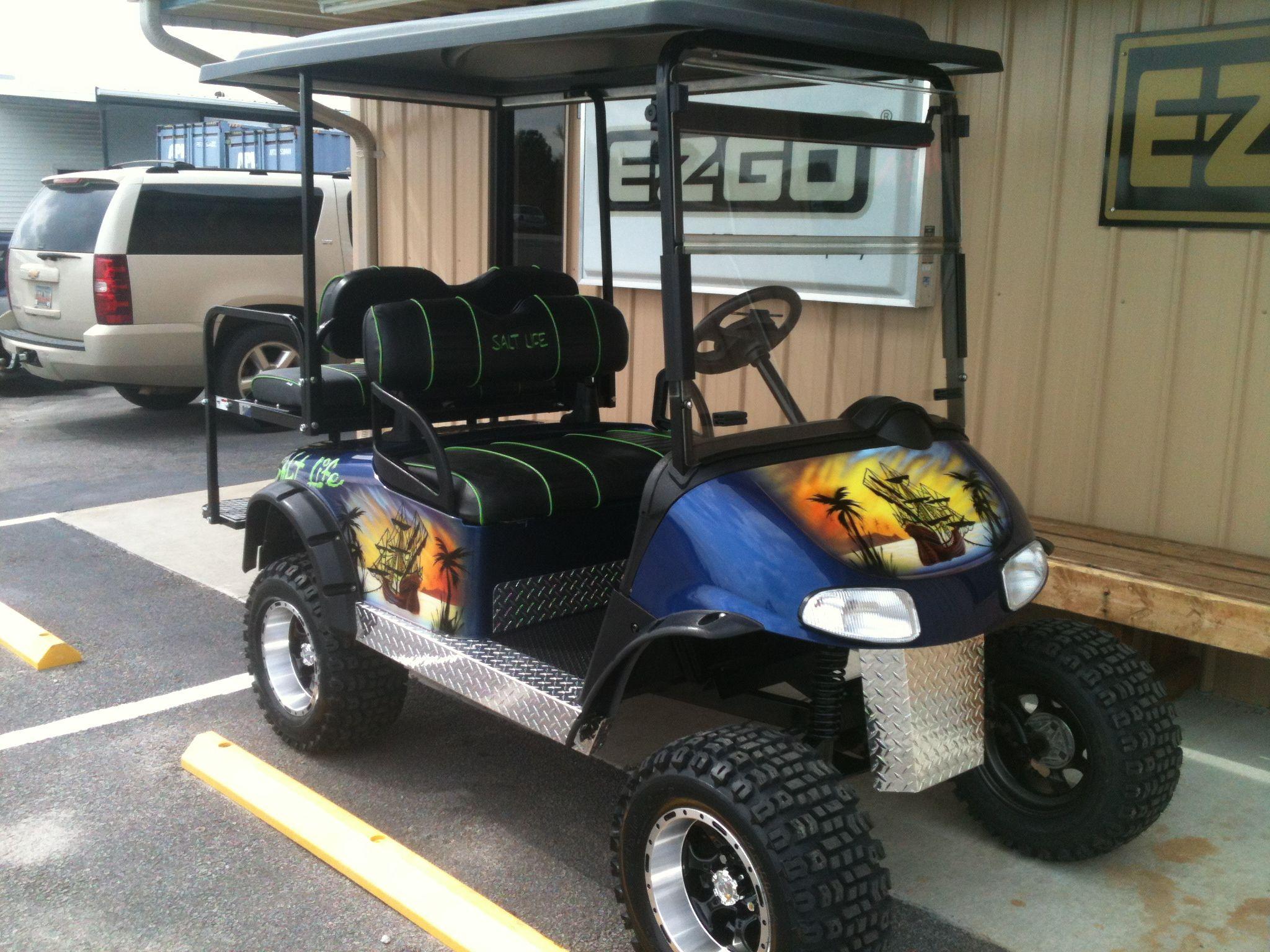 Custom Salt Life Golf Cart Golf Carts Golf Lifted Golf Carts