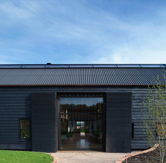 Derelict Barn Conversion Into Modern Home Barns Modern