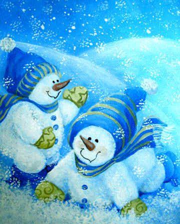 Snow Babies at Play\
