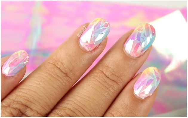 Shattered Glass Nail Art Gorgeous Nails Fun Nails And Art Tutorials