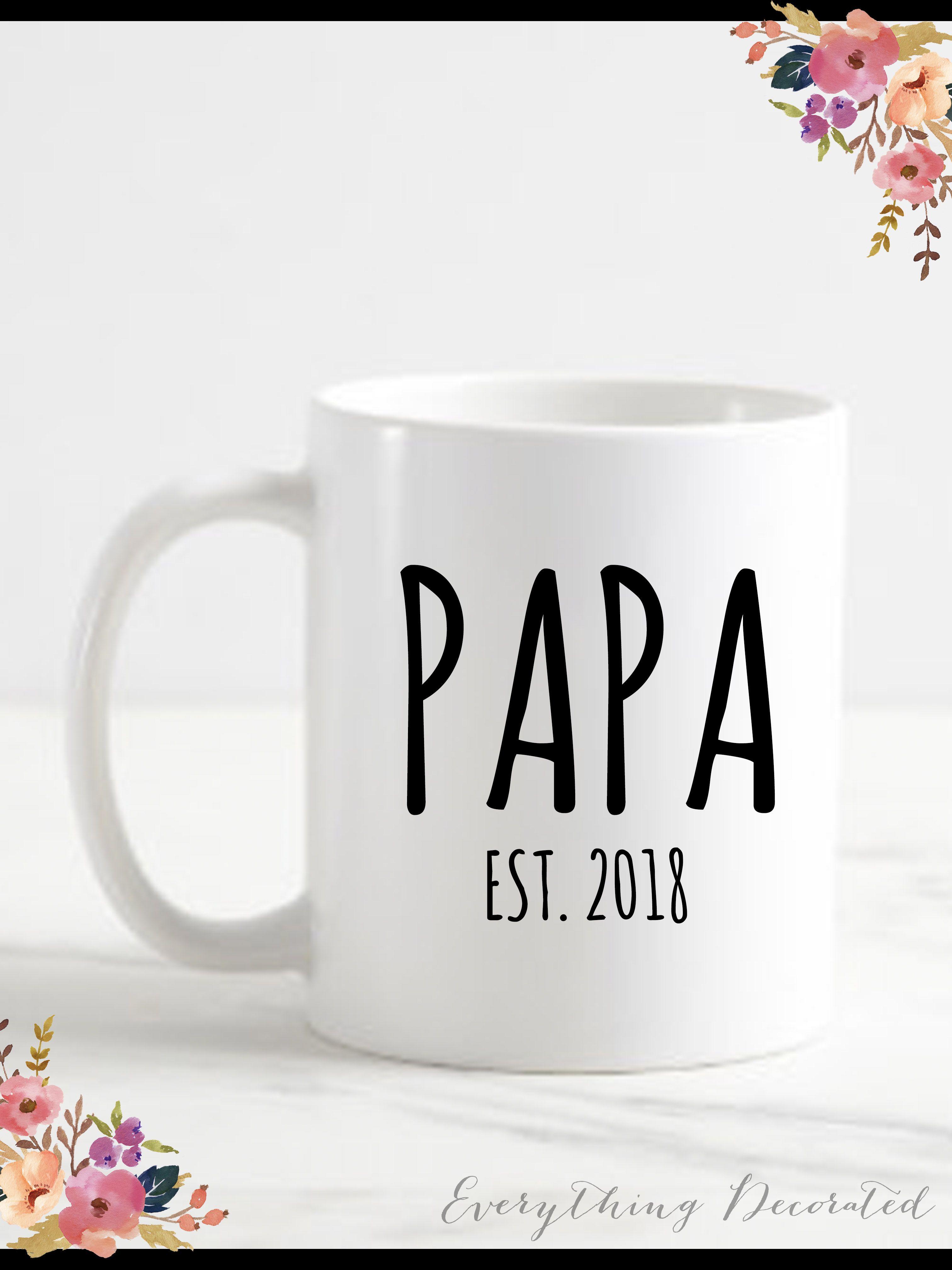 Papa Bear Gift Mug For Grandpa Grandparents New To Be Gifts