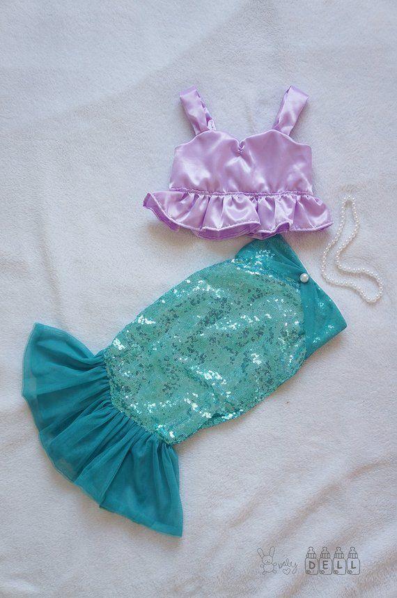 Girl Mermaid Costumes Little Mermaid Costume Costume Etsy Sirena Disfraz Niña Traje De Sirena Para Niñas Disfraz Halloween Niña