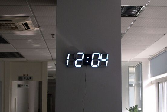 Large Digital Clock For A Command Center Large Digital Wall