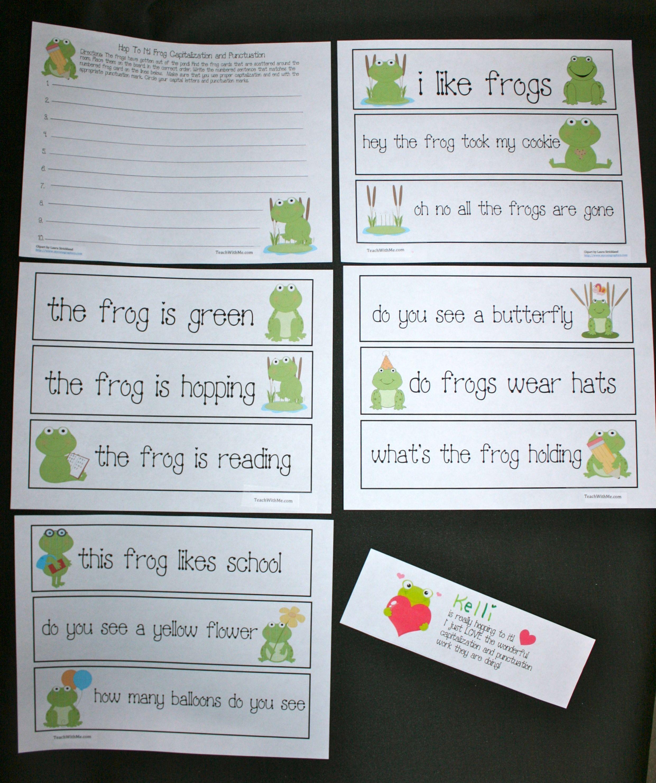 Frog Punctuation Capitalization Activities