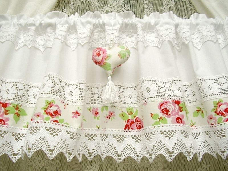 Shabby Chic Landhausgardine Vintagestyle Rose 268 Vintage Lace Curtains Shabby Chic Lace Curtains