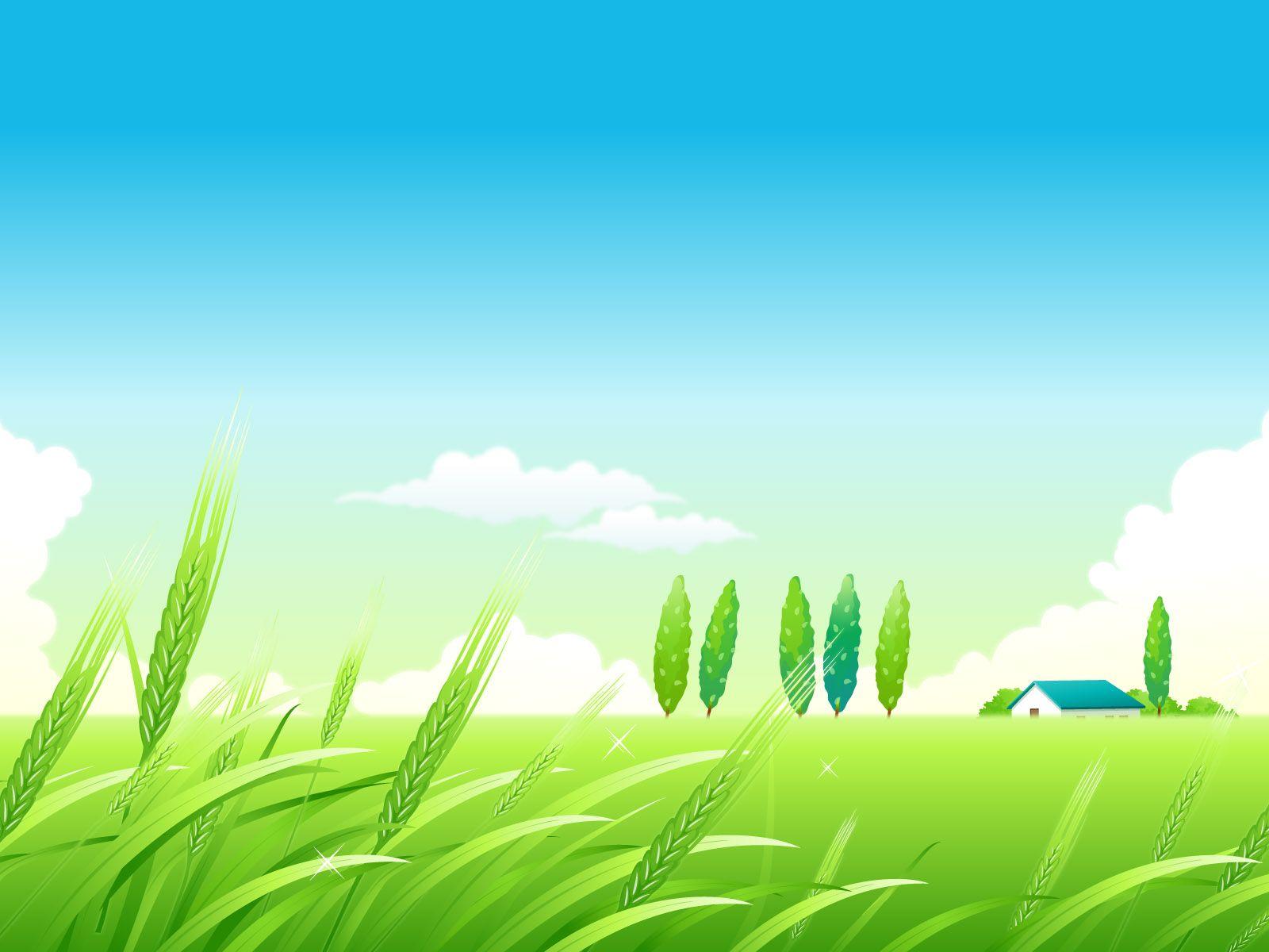 Village Summer Landscape Ppt Backgrounds For Microsoft Powerpoint Summer Landscape Landscape Background