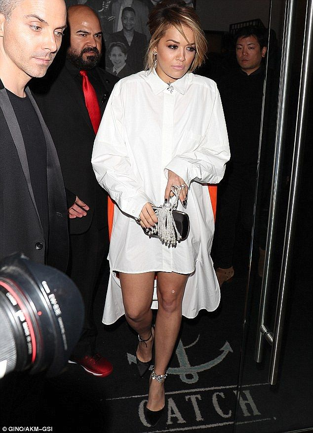 Dip it low in a shirt dress like Rita wearing DKNY. Click 'Visit' to buy now. #DailyMail