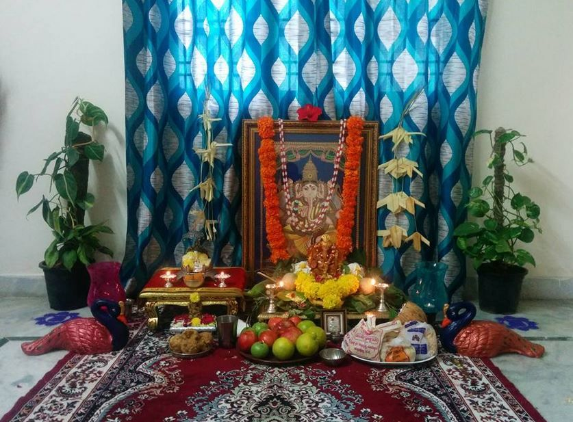 Ganesh Chaturthi Decoration Ideas Ganesh Pooja Decor Ganesh And Decoration