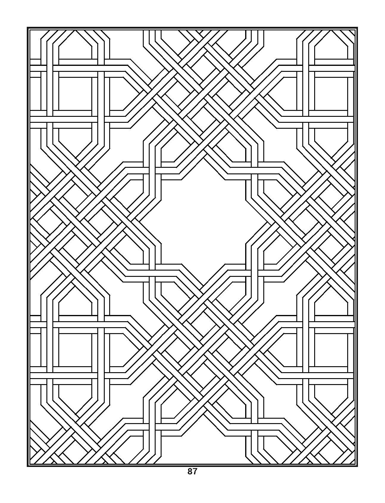 Pin On Adult Coloring Book Geometric Stress Relieving Drawings And Patterns 1 Geometric Coloring Book Series