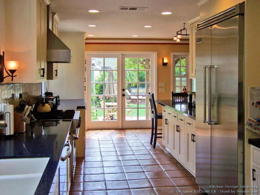 Classic Kitchen Spanish Tile Floor Sconces  Designer Kitchens Extraordinary Designer Kitchen Decorating Design