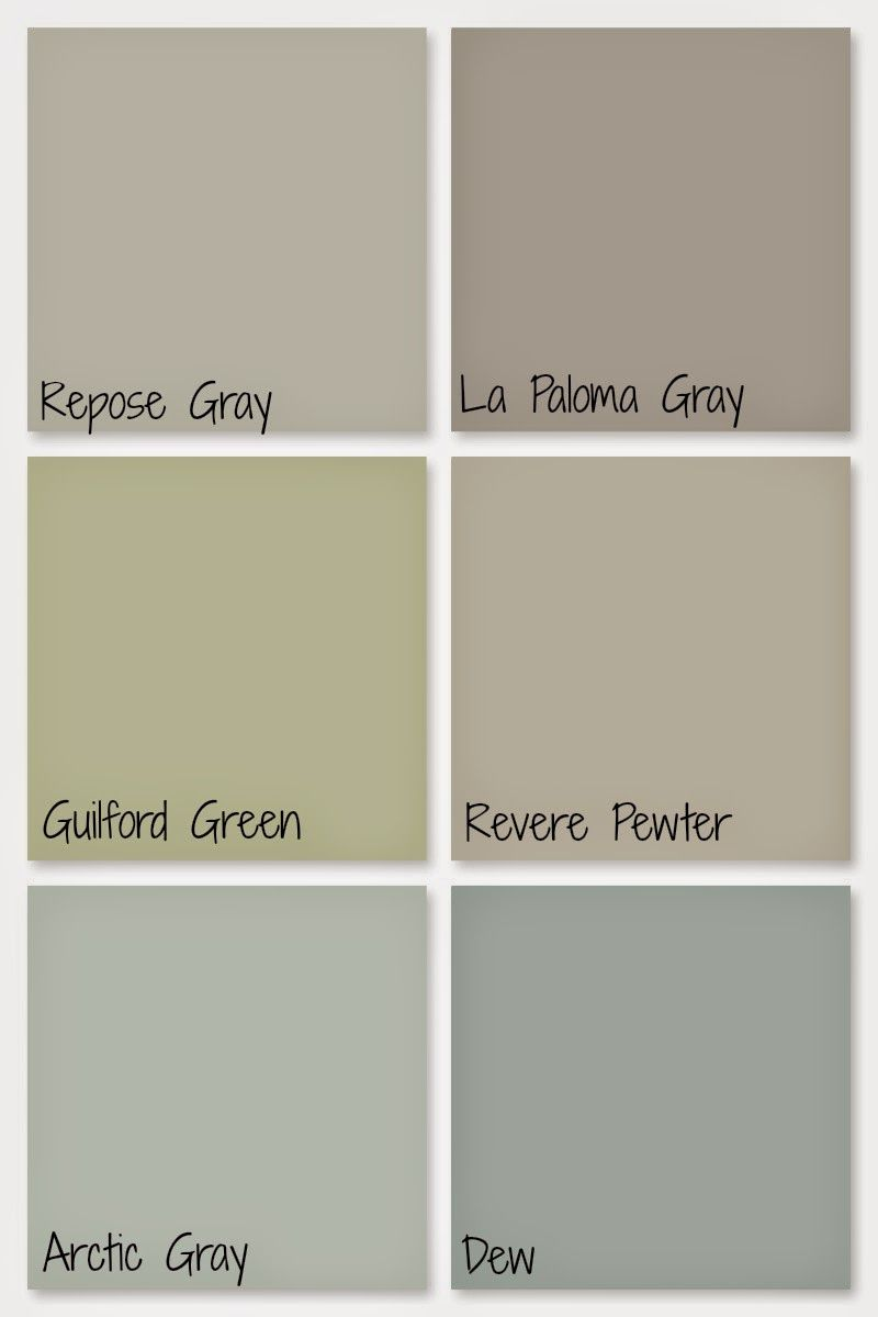 Green paint colors - Our Whole Home Paint Colors Repose Gray La Paloma Gray Guilford Green
