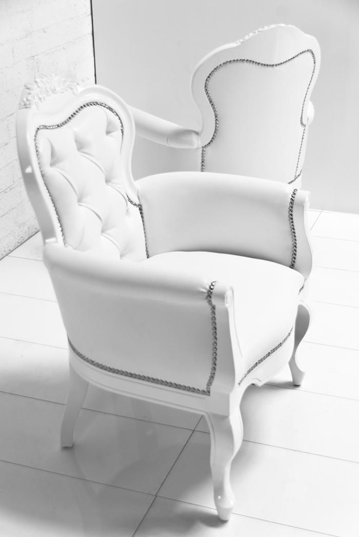 apartment size leather white chairs | www.roomservicestore.com ...