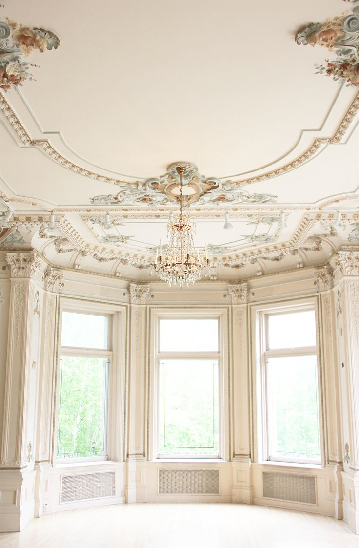 Window moulding ideas  an empty ball room castles crowns and cottages  castles room and