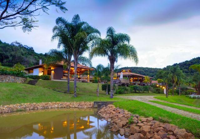 Wohnhaus exotische Umgebung-Wasserteich Casa-Fazenda-holzpavillon