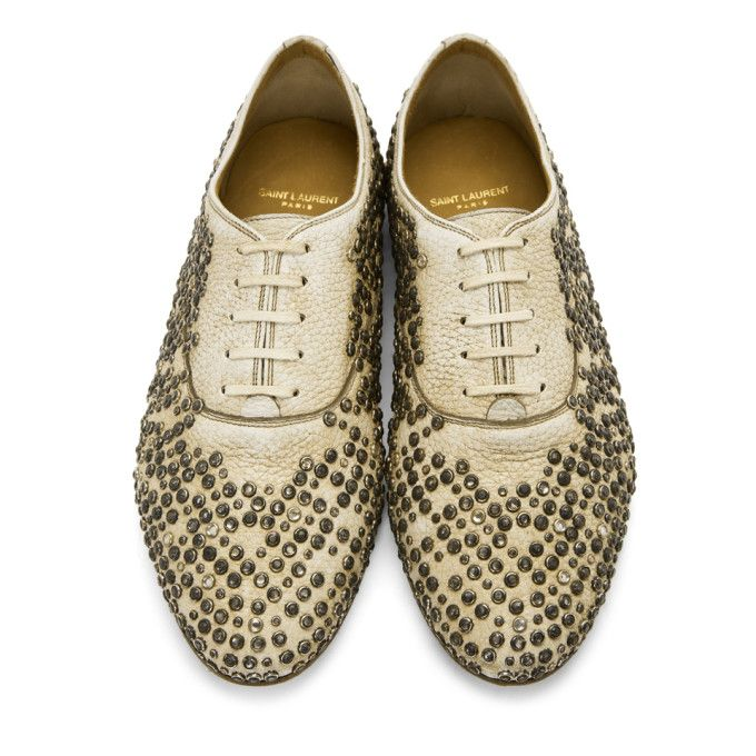 Saint Laurent Studded Rive Gauche Oxfords nw0dp