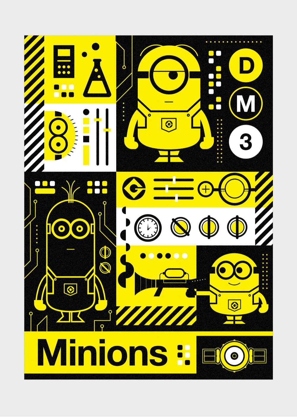 Designer Russell Gray's created amusing, Minionfilled