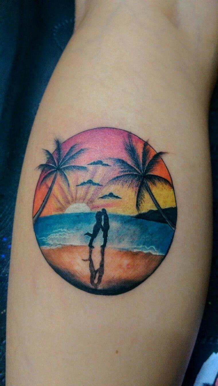 Sunset circle tattoo from Canggu Tattoo Studio, Bali