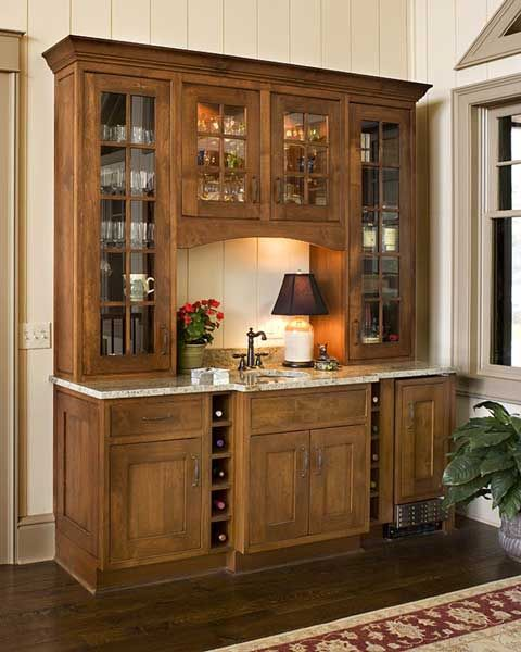 Located In The Dining Room, Just Off The Kitchen, This Elegant Wet Bar Has