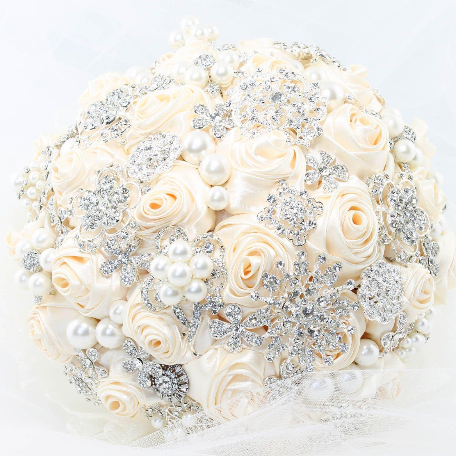 Wedding bouquets not flowers  MELANIE Brooch Bouquet  Bridal Bouquet  Pinterest  Brooch