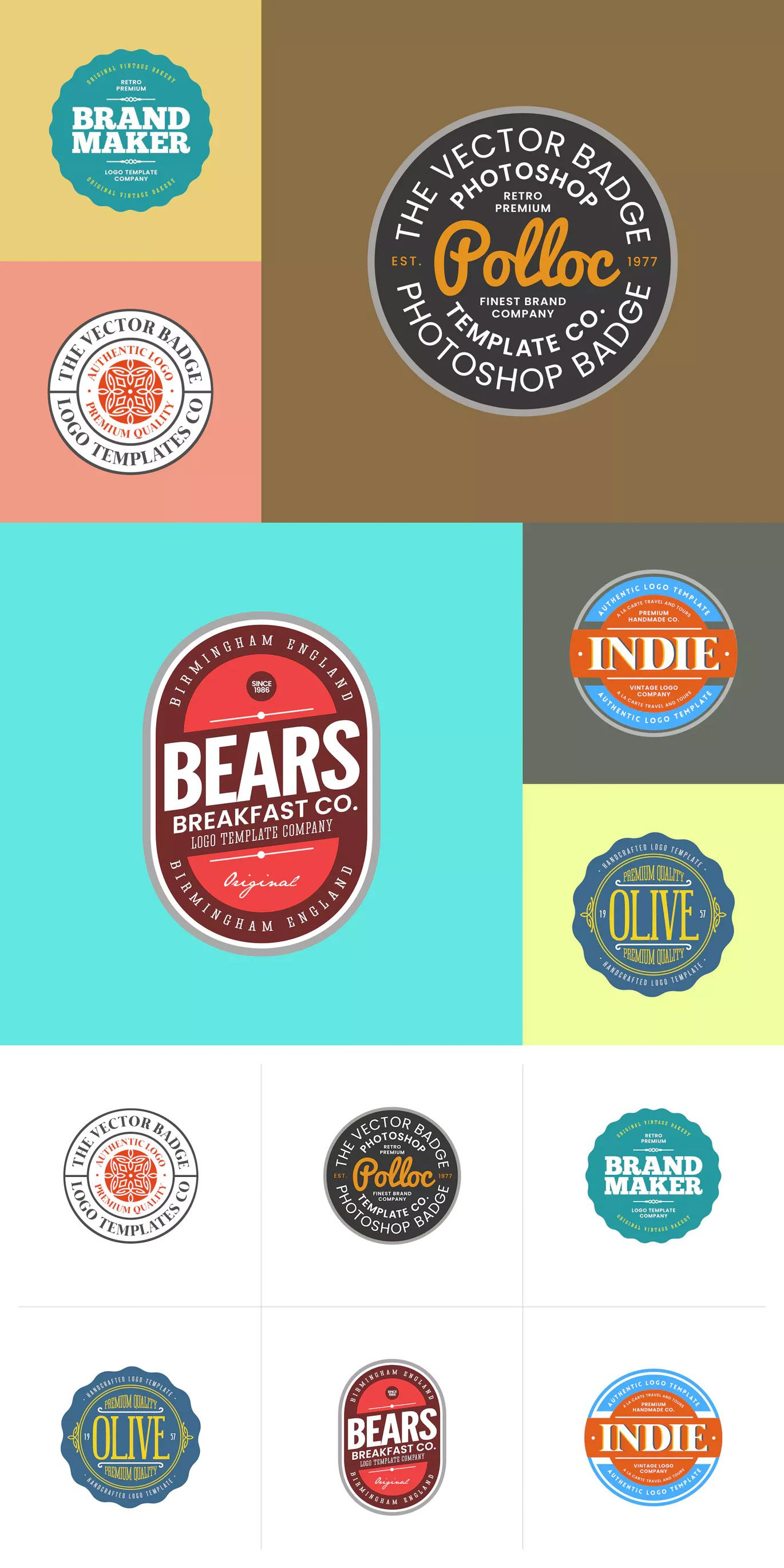 Logo Badge Template Psd Download Logo Templates Badge Template Templates Logo Templates