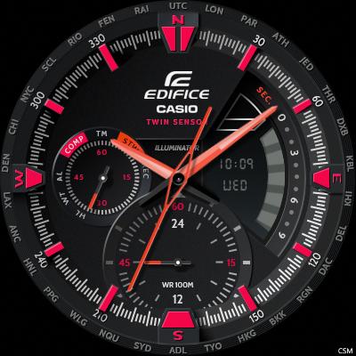 [Download] Casio EDIFICE ERA300DB RED Battery Watch Face
