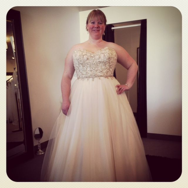 Plus Size Curvy Bride Wedding Bridesmaids Blush Wedding Spring