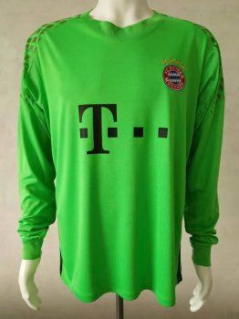 1f12c594316 FC Bayern Munich 2017-18 Season LS Green FCB Goalkeeper Jersey Shirt [K158]