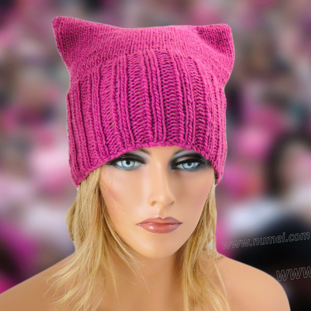 Free Knitting Pattern: Cat Ears Hat (Pattern 3) | Easy ...