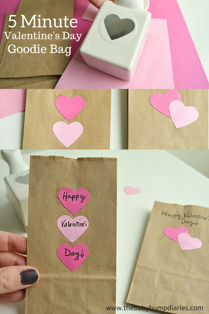 5 minute valentines day good bags - Valentine Bags For School
