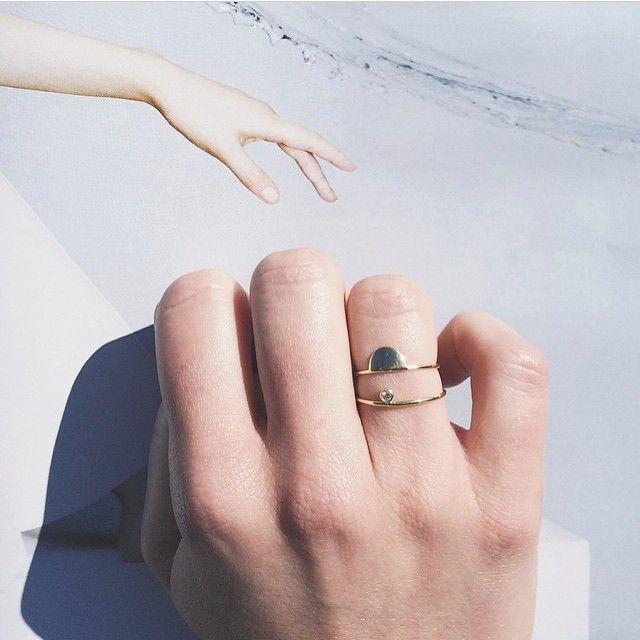 IVY & LIV | Instagram | Little 14kt golden rings and a tiny diamond ✨  #regram #ivyandliv #jewelry #ring #14ktgold