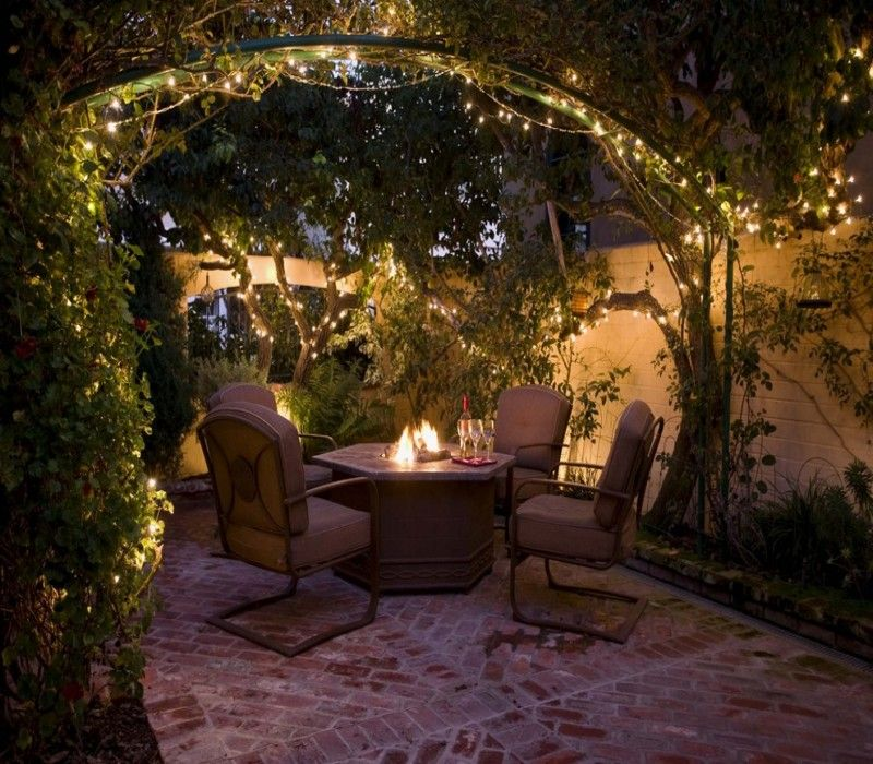 Decorate your pergola gazebo on this christmas garden lighting ideasoutdoor