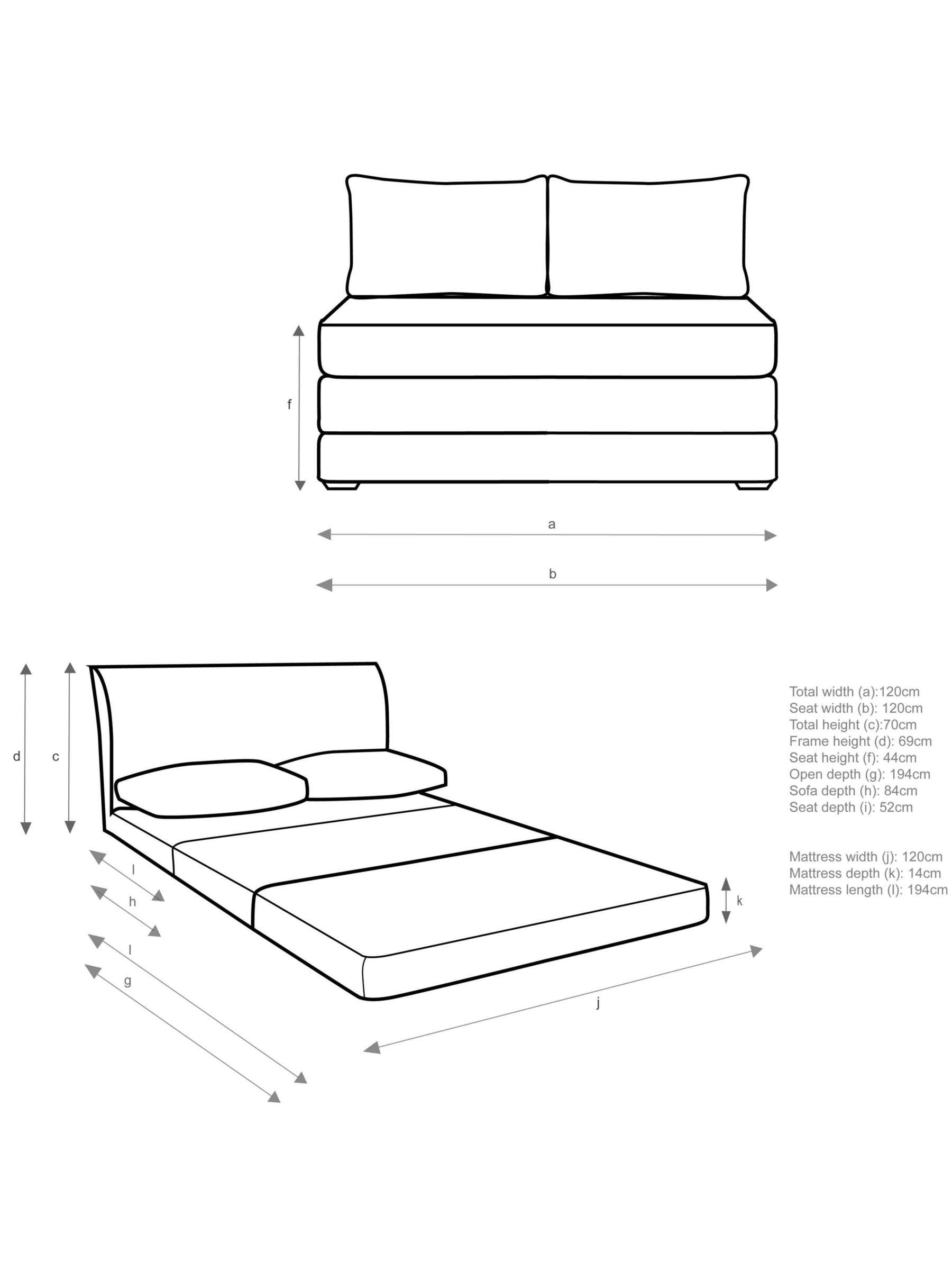 Kip Small Sofa Bed With Foam Mattress