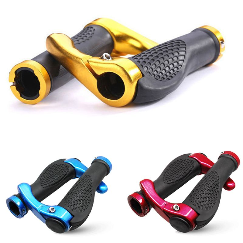 Bicycle Hand grips Lock on Cycling Rubber Handle Aluminum alloy Durable