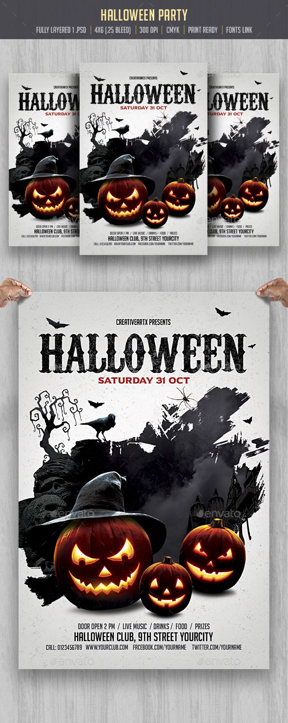 Halloween Flyer Flyer Template Template And Party Flyer