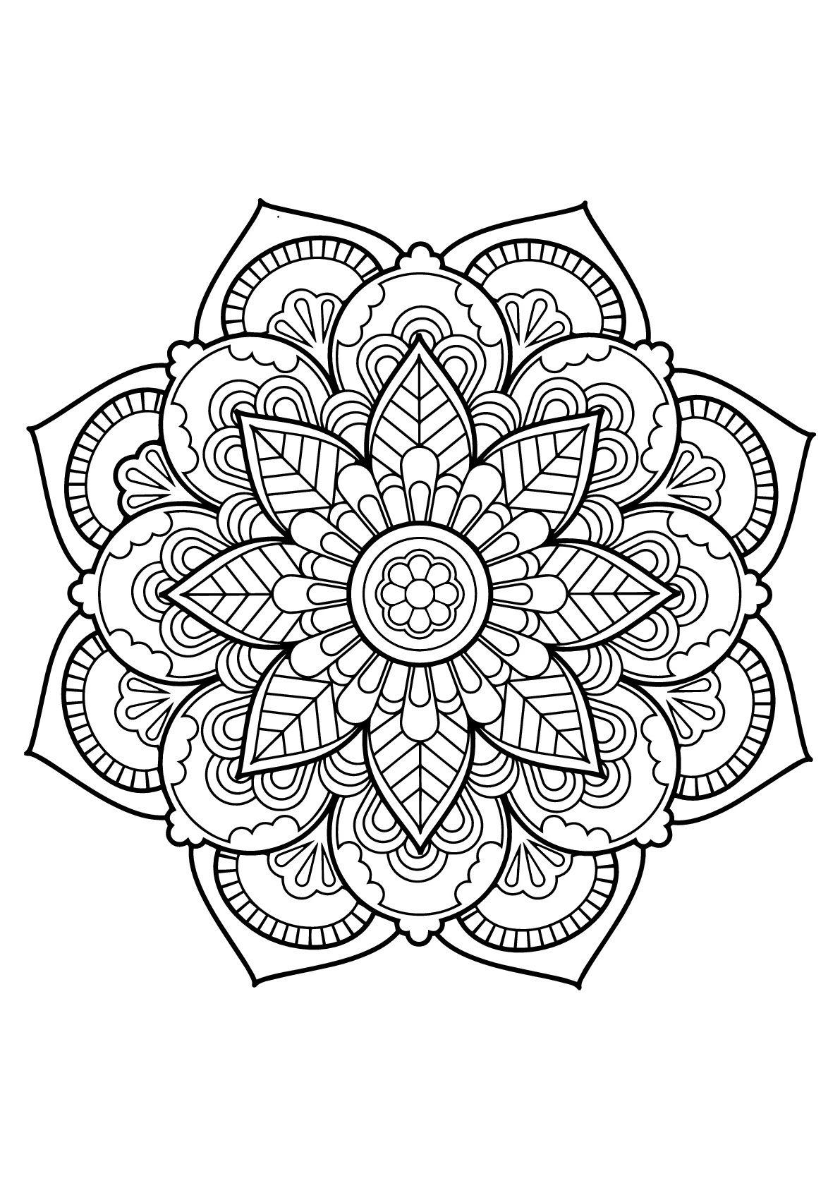15 Luxe De Mandalas A Imprimer Gratuit Photos Mandala A Colorier Coloriage Mandala Mandala A Imprimer Gratuit