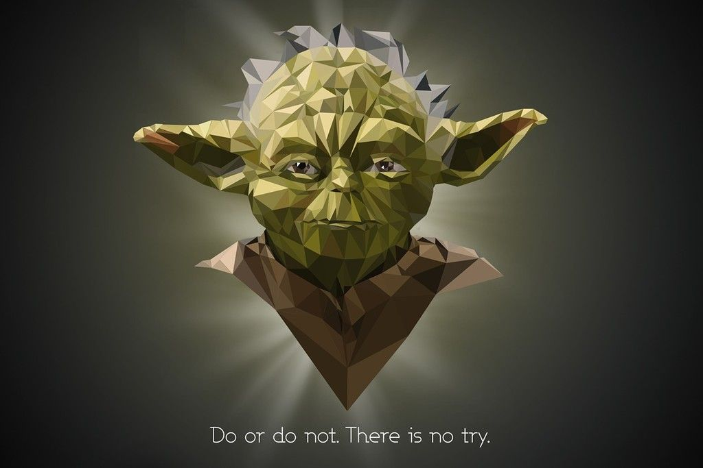 Yoda Of Star Wars Low Poly Artwork Wallpaper Star Wars Wallpaper Star Wars Art Geek Art