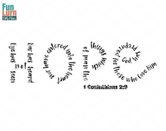 Hope Svg 1 Corinthians 2 19 Eye Has Not Seen Nor Has Ear Heard