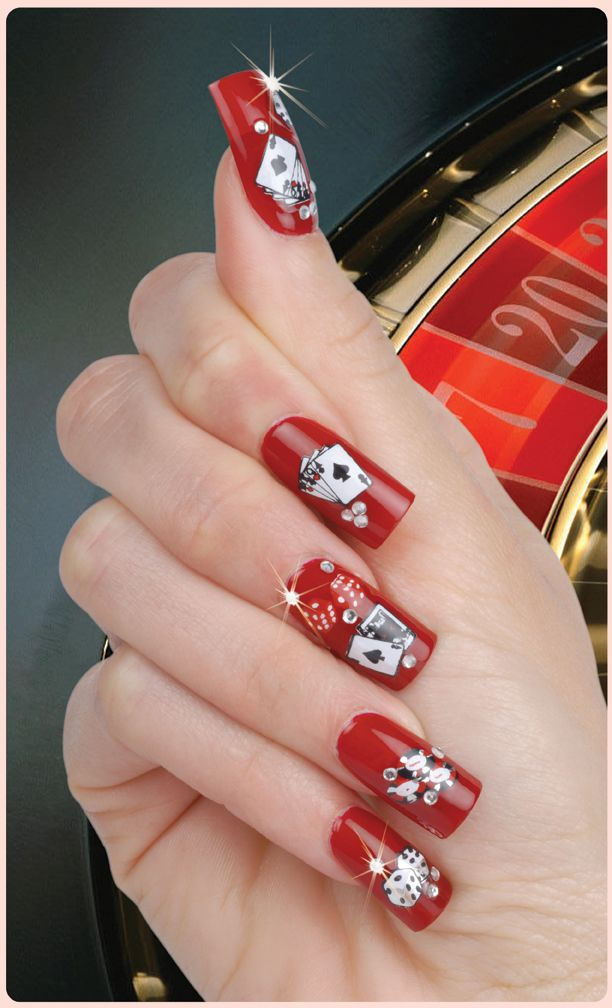 gambling nails, we do do appreciate these beauties!  www.jackpotcapitalcasino.com/ | My Style | Pinterest | Nails, Vegas nails  and Nail Art - Gambling Nails, We Do Do Appreciate These Beauties! Www