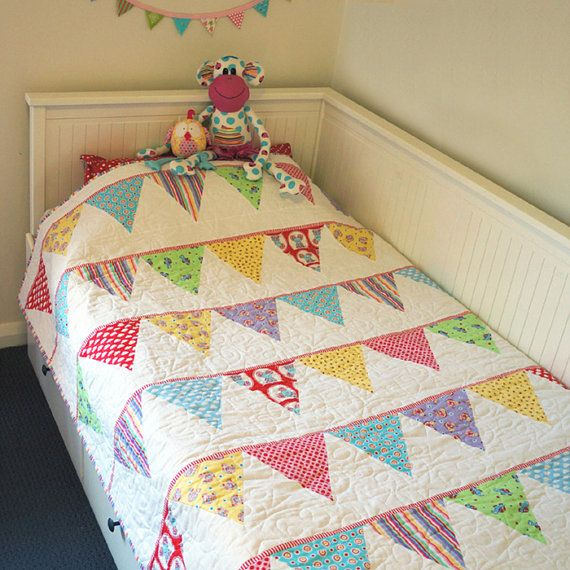 Celebration Bunting Quilt Creative Card Baby Clothes Quilt Easy Quilts Quilts