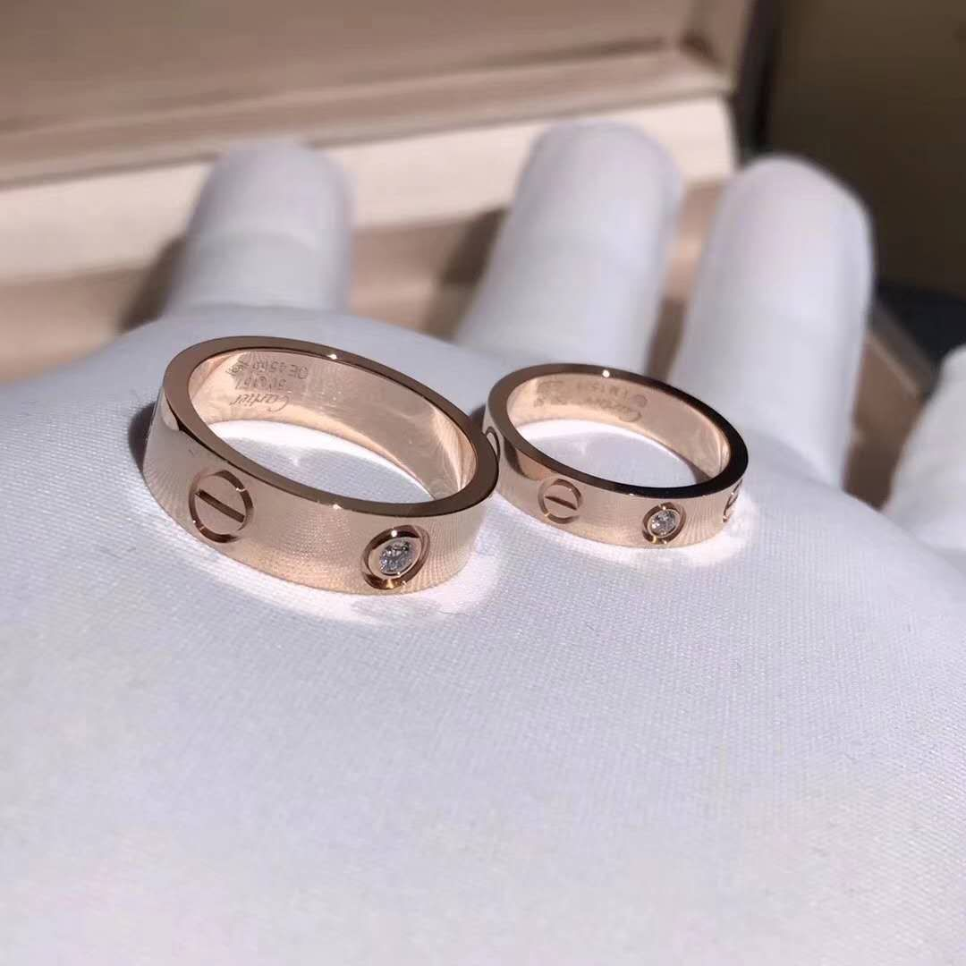 Pink Gold Cartier Love Ring Wedding Band In 2020 Cartier Wedding Rings Cartier Love Ring Cartier Ring