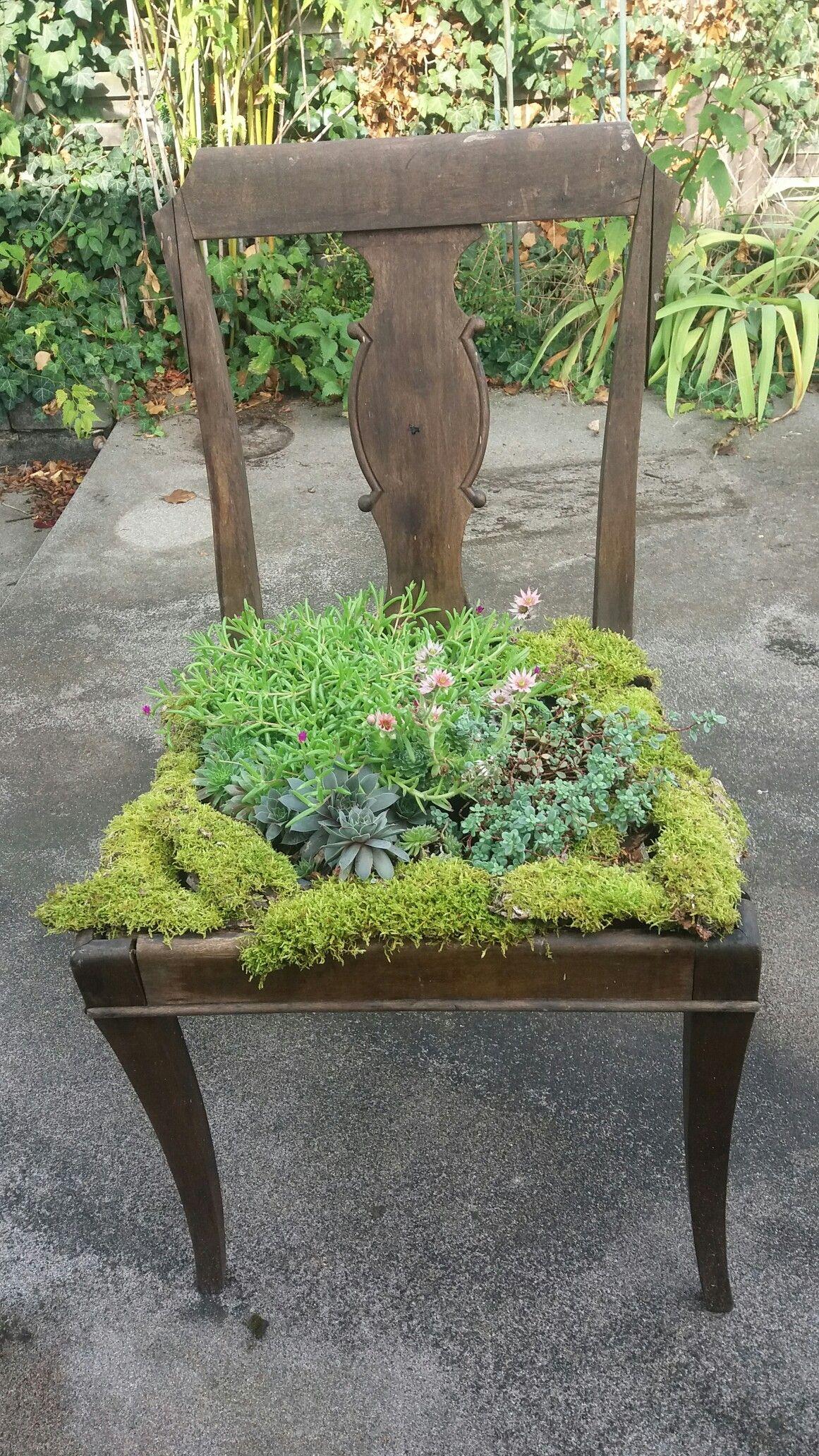 Bepflanzter Stuhl Garten Deko Garten Gartengestaltung