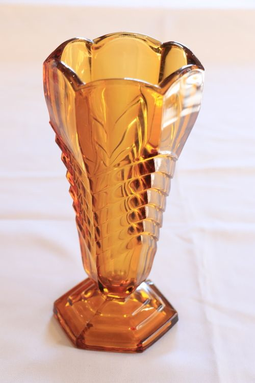 A Vintage Art Deco Satin Glass Bowl Davidson ? British