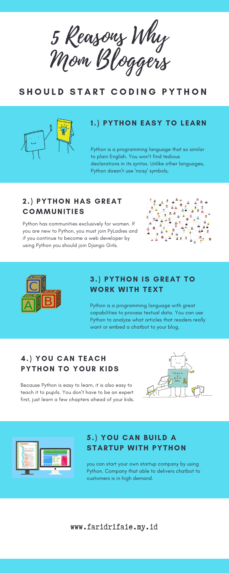 5 Reasons Why Mom Bloggers Should Start Coding Python Online Programs Online School Online Teaching