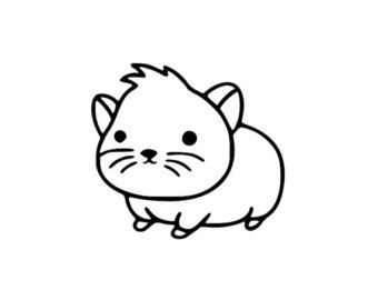 hamster clipart fuzzy 3 animal love pinterest rh pinterest com hamster clip art outline hamster clipart free