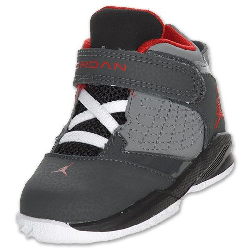new concept d9909 ca55c Jordan New School Toddler Basketball Shoes   FinishLine.com   Anthracite Varsity  Red Cool Grey Black