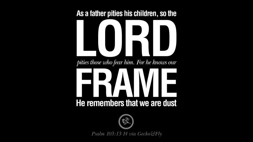 As a father pities his children, so the LORD pities those who fear ...