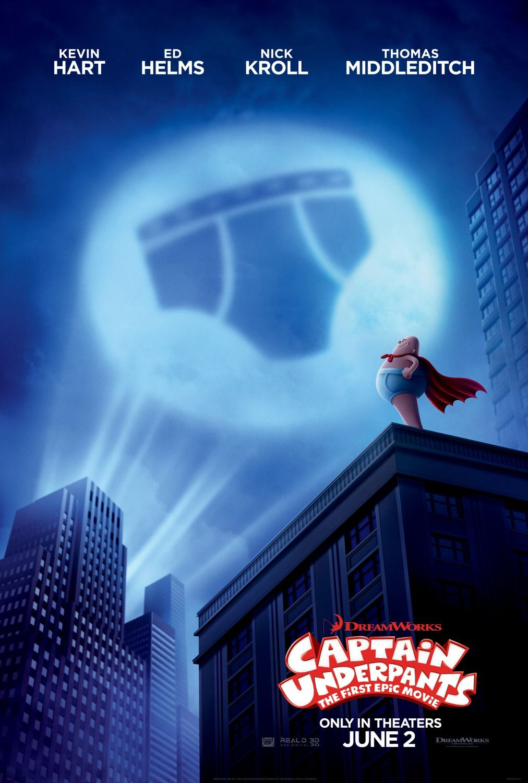 Captain Underpants The First Epic Movie Teaser Poster Capitan Calzoncillos Peliculas De Dreamworks Poster De Peliculas