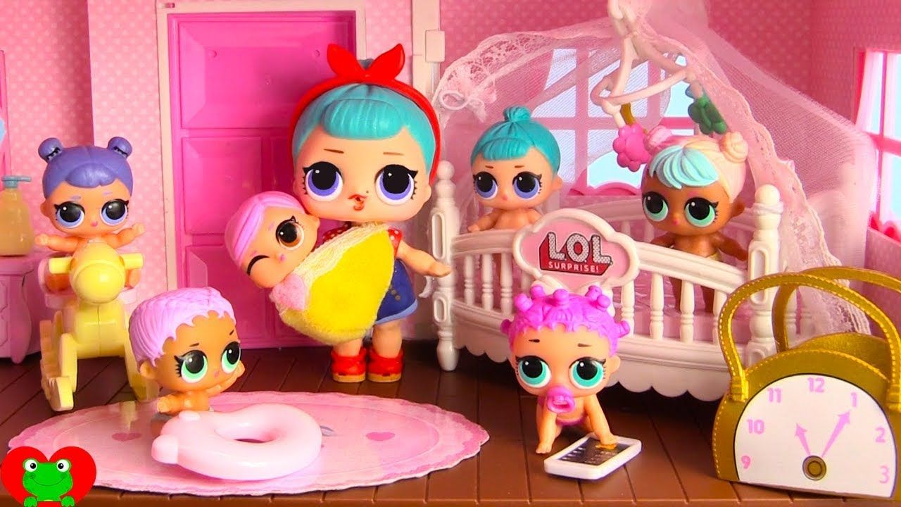 Lol Surprise Dolls New Nursery For Lol Lil Sisters In Doll House
